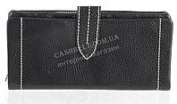 Качественный женский кожаный кошелек с мягкой кожи SALFEITE art. 12250 черный