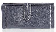 Качественный женский кожаный кошелек с мягкой кожи SALFEITE art. 12250 синий металик