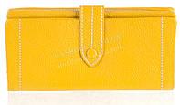 Качественный женский кожаный кошелек с мягкой кожи SALFEITE art. 12250 желтый