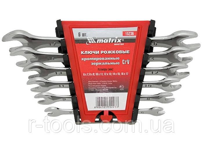 Набор ключей рожковых 12 шт (6-32 мм) CrV Elliptical зерк хромирование MTX Master 152429