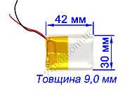 аккумулятор 1200мАч 9*30*40 мм 3,7 в для MP3 плееров, GPS, електронных книг, планшетов 1200mAh 3.7v