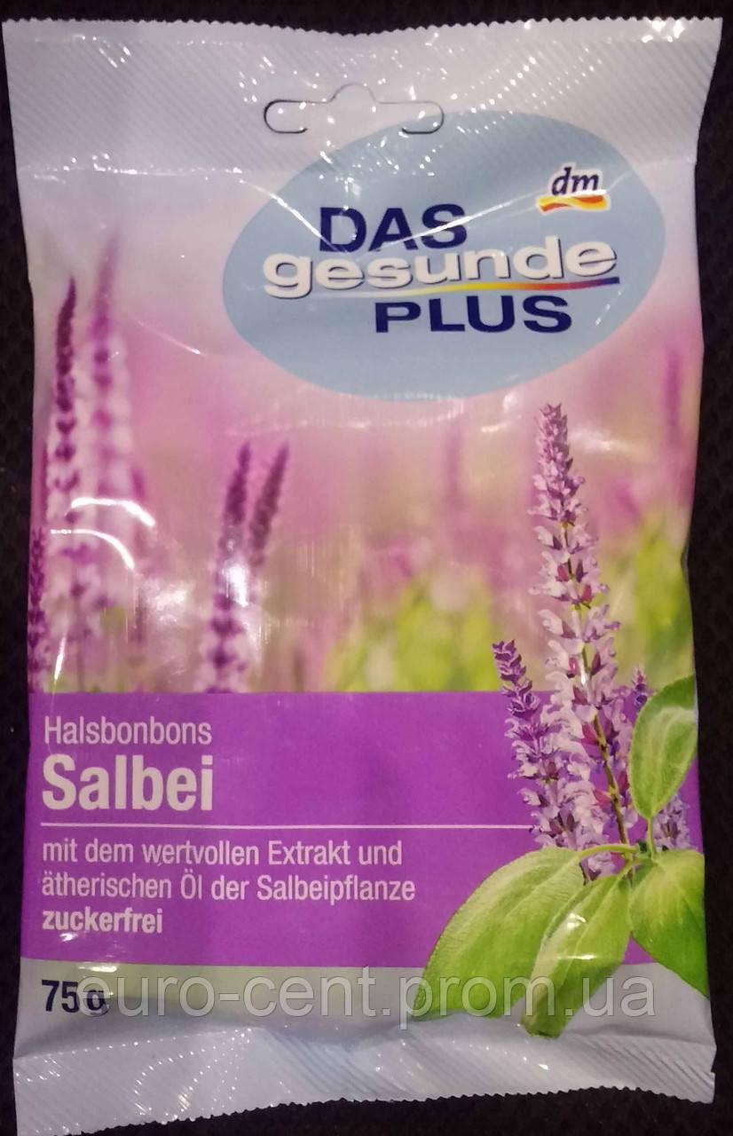 Леденцы со вкусом Шалфея Das gesunde Plus Halsbonbons Salbei 75г