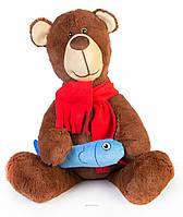 Мягкая игрушка Медвежонок с рыбкой