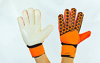 Рукавиці воротарські юніорські з захисними вставками на пальці FB-877-2 PREMIER LEAGUE (р-р 7,8 помаранчевий)