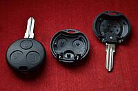 Ключ Smart Fortwo 3 кнопки корпус под лампочки