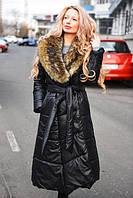 Женское длинное зимнее пальто