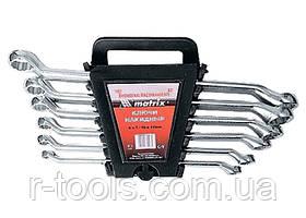 Набор ключей накидных 6–17 мм CR-V 6 шт полированный хром MTX 153319