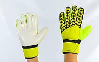 Рукавиці воротарські юніорські з захисними вставками на пальці FB-877-3 PREMIER LEAGUE (р-р 7,8 жовтий)