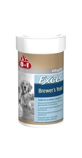 8in1 Excel Brewers Yeast 140 шт - Пивные дрожжи - добавка для здоровья кожи и шерсти собак и кошек