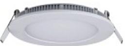 Світильник вбудований LED-PANEL-18WR dia.225mm aluminium 2835smd 90шт 1260Lm IP20