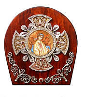 Ангел Хранитель икона миниатюра скань (Silver 925)