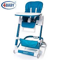 Детский стульчик для кормления 4Baby Icon navy blue