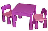 Столик и два стульчика Tega Mamut фиолетовый