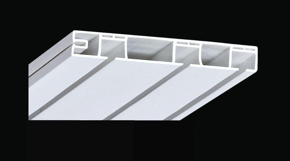 Карниз потолочный пластиковый, трехрядный