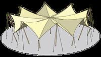 Тентово-вантовые конструкции