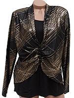 Женские туники-блузки с золотистыми узорами (52-56), фото 1
