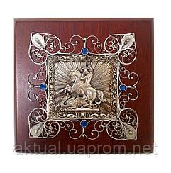 Георгий Победоносец икона скань (Silver 925)