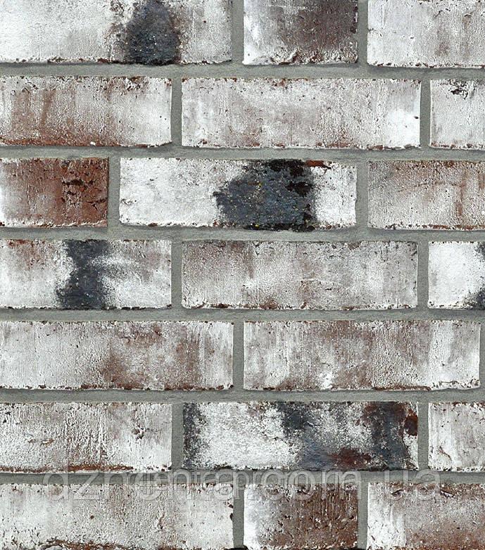 Кирпич лицевой Wiesmoor угольно-белый ручной формовки NF