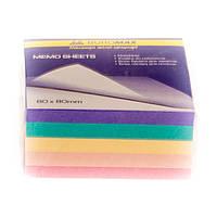 Цветная бумага для записей и заметок Декор 80х80х300 не склеен