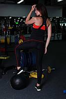 Классические лосины, леггинсы для занятия фитнесом Красный