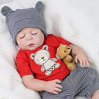 Кукла реборн сплюшка Reborn doll мальчик 55 см.Арт. 957