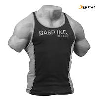 Спортивная майка GASP 2-Color RibTank, Black/Grey