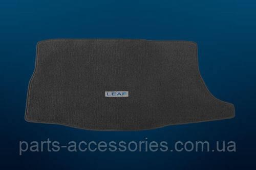 Nissan Leaf 2011-12 коврик велюровый серый в багажник новый оригинал