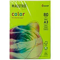 Бумага цветная Maestro А3 г/м² 80 неон зеленый