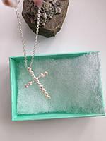 Подвеска крест в камнях