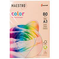 Бумага цветная Maestro А3 г/м² 80 оттенка пастель лосось