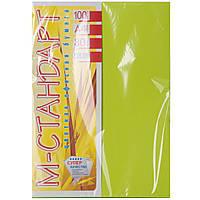 Цветная бумага М - Стандарт А4 г/м² 80 неон зеленый