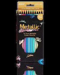 """Олівці кольорові """"MARCO"""" Metallic (12 кольорів) 5101B-12CB"""