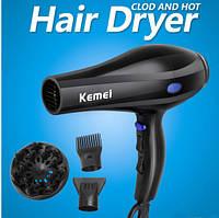Профессиональный фен Kemei KM-3319, фен для сушки волос