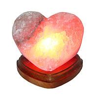 """Соляная лампа """"Сердце алое"""", дерево, 2.0 кг"""