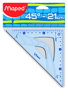 Кутник UNBREAKABLE 45гр/210мм (гіпотенуза) пластик, дисплей, MP.244421