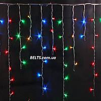 Гирлянда Бахрома 512 LED (разноцветная гирлянда-штора 3 м, на 0, 65м)