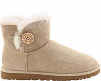 Женские сапоги UGG Bailey Button Mini Sand