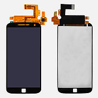 Модуль матрица+сенсорное стекло Motorola Moto G4 Plus (XT1642) черный