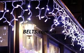 Праздничная гирлянда Бахрома 3 м на 0,65 м 200 ламп разноцветная (гирлянда-штора)