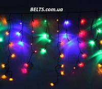 Светодиодная гирлянда Бахрома 3 м на 0,65 м 200 ламп разноцветная (гирлянда-штора)