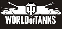 """Эксклюзивная наклейка """"WORLD of TANKS"""" #2 белая, фото 1"""