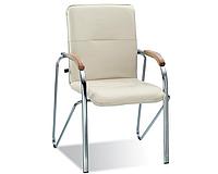Конференц-стул SAMBA с деревянными подлокотниками