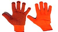"""Перчатки с ПВХ точкой оранжевые """"LUXE"""""""