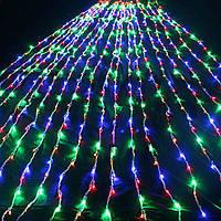 Уличная светодиодная гирлянда Водопад/Световой дождь 3x1,5м цвет: мультиколор 240LED