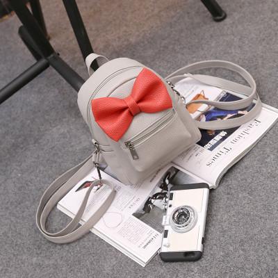 Маленькая сумка-рюкзак с бантиком