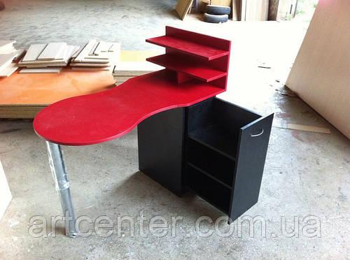 Красный Маникюрный стол