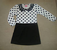 Платье для Девочки Трикотажное с Длинным Рукавом Рост 92-122 см