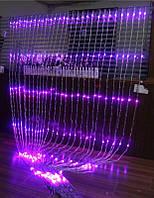 Уличная светодиодная гирлянда Водопад/Световой дождь 480LED, 3х2 м, цвет: розовый