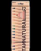 "Карандаши цветные ""MARCO"" Natural (12 цветов)  6100-12CB"