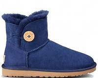 Женские сапоги UGG Bailey Button Mini Blue